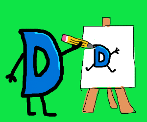 Drawception D draws itself