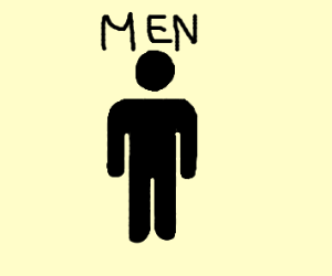mens toilet sign