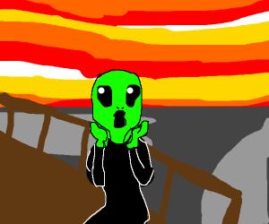 The Scream, but an alien