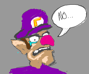 Waluigi lost his moustache