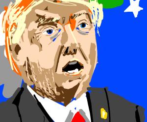 Donald trump with a beard