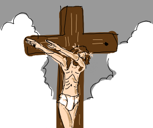 jesus doing a sick dab on the cross
