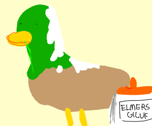 Glue on duck