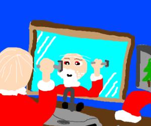 Santa needs to shave