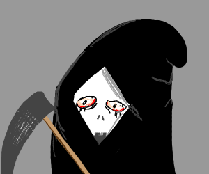 The Grim Reaper, but with red eyes
