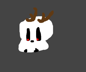 Sugar Skull With Antlers