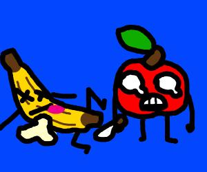 apple killed a banana