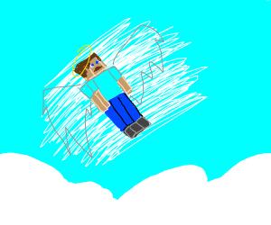minecraft steve in heaven, where he belongs