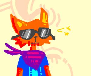 A cool orange cat