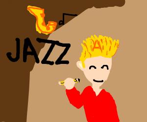 Guy with blonde hair (Jazzzzzzzzzzza)