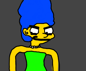 Marge Simpson is smug