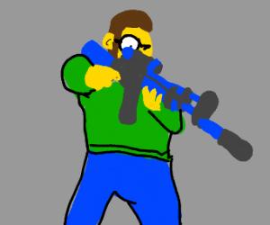 Ned Flanders with an AR-15