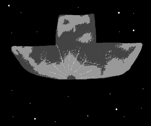 boat + moon