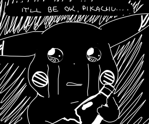 Pikachu is depressed. Go talk to him.