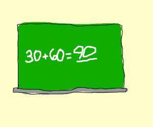30+60=90
