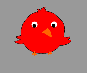 Inflated bird
