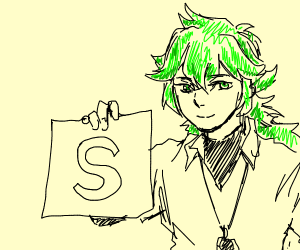 Person With Green Hair And S