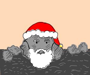 santa is a rock