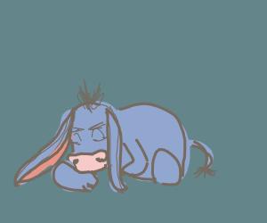 Eyore takes a depression nap