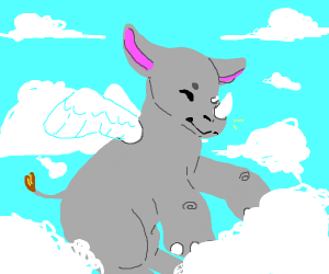 Rhino with wings