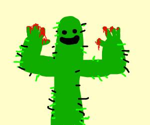 Bloody cactus fingers