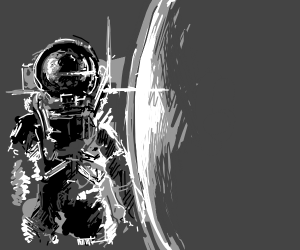 Austronaut in space