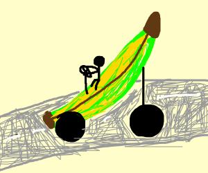 Unripe banana car