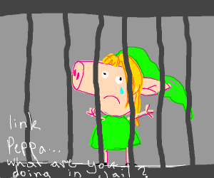 link as a pepper in jail