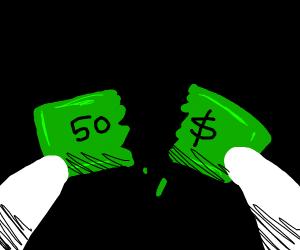 Ripping apart 50 dollars