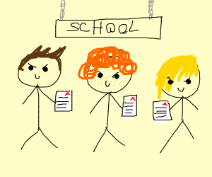 Me and the boys get A grades in school
