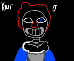 sans undertale is a clown