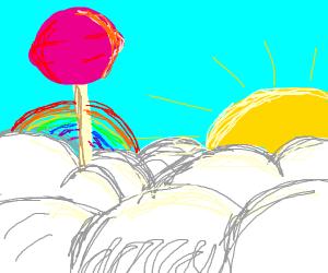 Lollipops in clouds