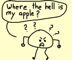 man with no torso hunting apple