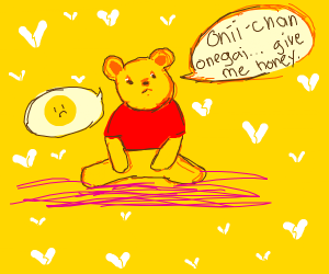 Pooh bear being a loli about honey