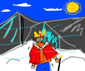 King climbing Mt. Everest