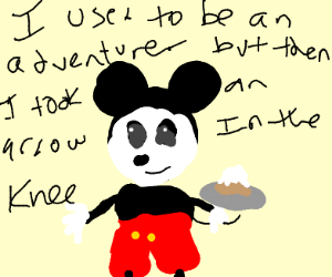 Mickey Mouse but skyrim