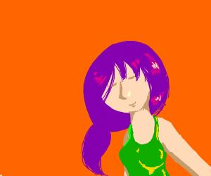 purple haired anime girl <3