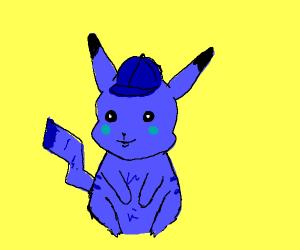blue detective pikachu