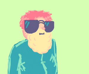 red head with blond beard and dark glasses