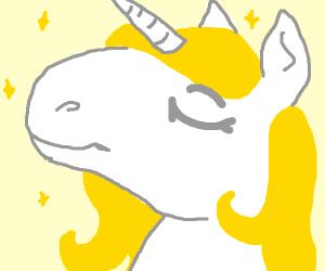 Blonde unicorn