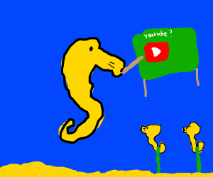 Seahorse teaching about YouTube