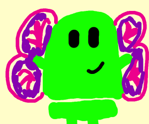 The android android with butterfly wings
