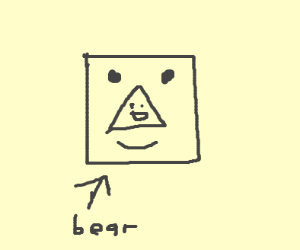 triangle face + square face = bear