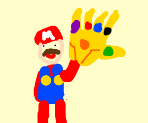 infinity war but mario brothers