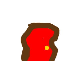 wobbly red door