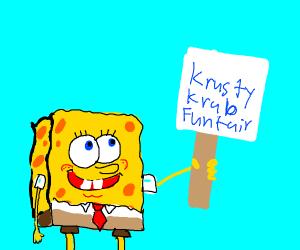 spongebob goes on strike