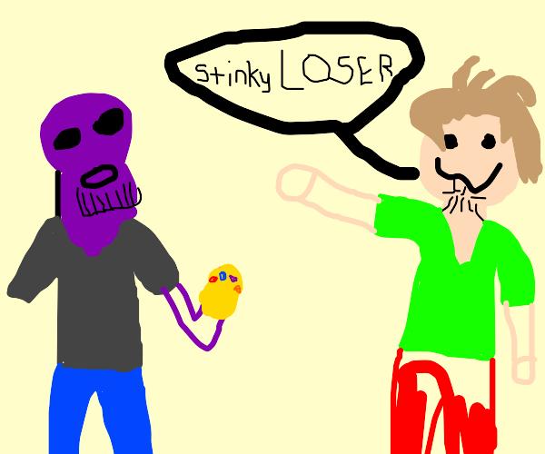 shaggy calls t hanos a stinkie loser lol