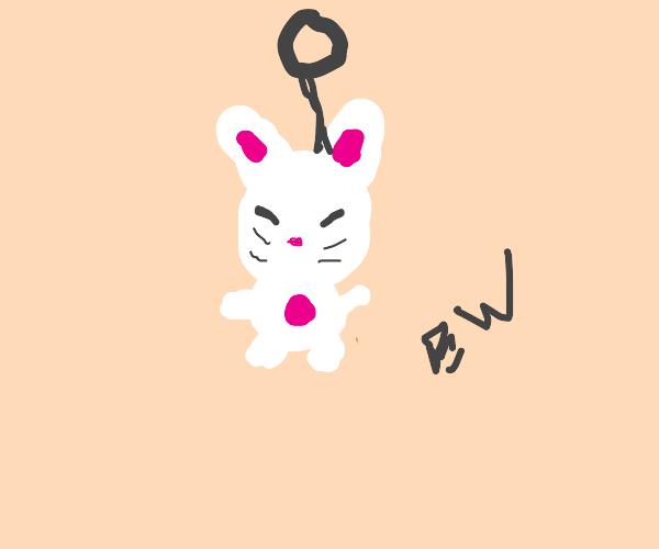 rabbit key ring