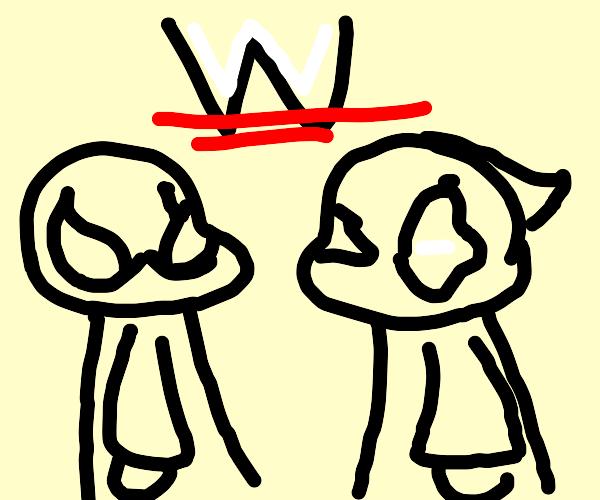 Spiderman & Deadpool wrestling