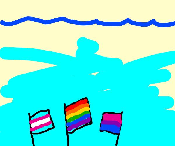 Underwater LGBTQ Pride